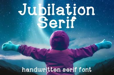 Jubilation Serif Font in TTF, OTF, WOFF Handwritten Serif