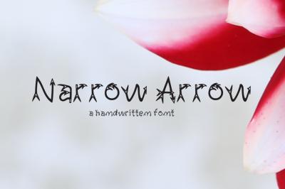 Narrow Arrow Typeface 2018