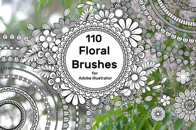 110 Floral Brushes for Adobe Illustrator