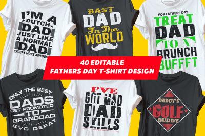 Fathers Day Tshirt Design Bundle
