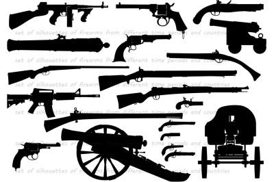 firearm weapon set
