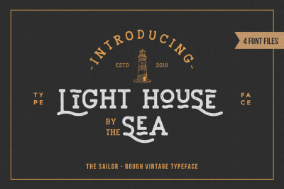 LightHouse - Sailor Rough Typeface