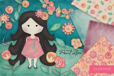 Paint Love Clipart, Textures & Patterns Vol.01
