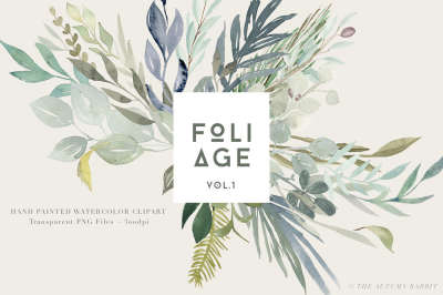 Foliage - Watercolor Leaves & Greenery