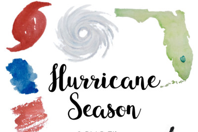 Watercolor Hurricane Season