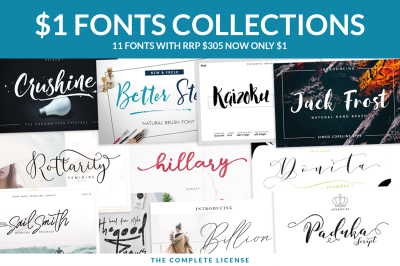 $1 Font Collections