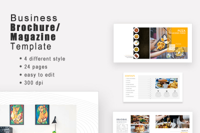 Professional Company Brochure Template Collection