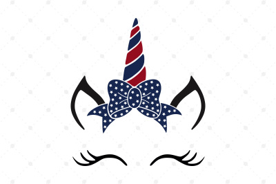 4th of July Unicorn SVG Cut Files