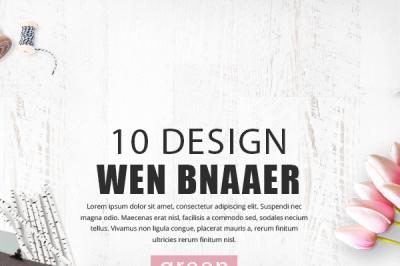 Elegant Online Store Web Banner Template