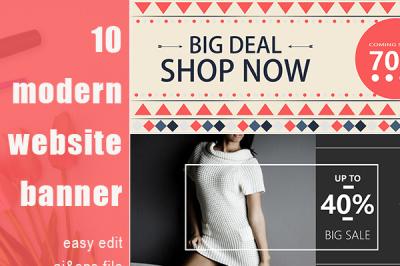 Modern Online Website Banner Template