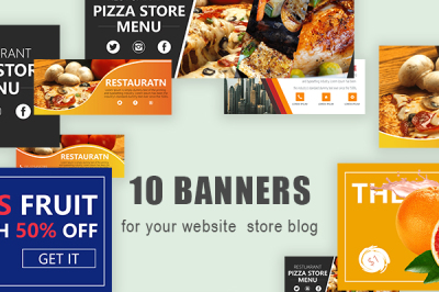 Colorful Website Blog Store Banner Template