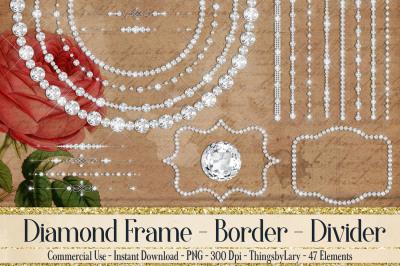 Diamond Frame, Diamond Dividers, Diamond String, Diamond Circle