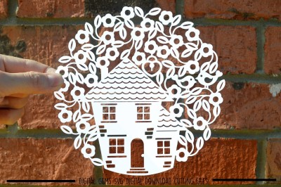 New home Paper Cut SVG / DXF / EPS Files