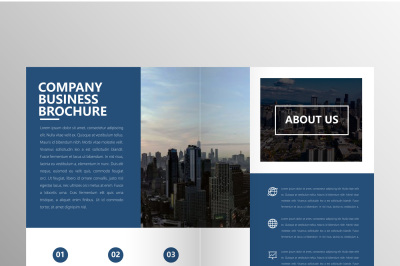 Clean Blue Company Brochure Template Bundles