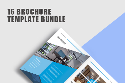 Modern Blue Company Profile Brochuer Template