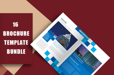 Professional Blue Company Culture Display Brochure