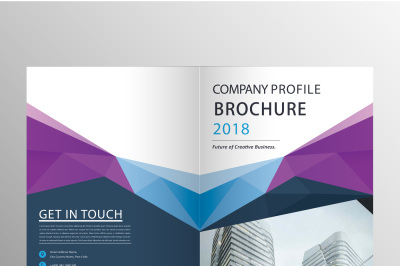Professional Company Blue Brochure Template