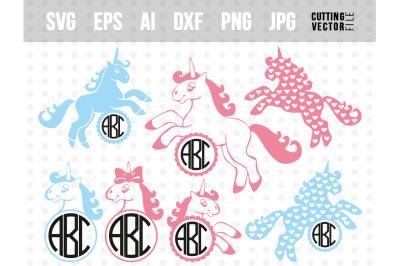 Unicorn Vector Bundle - svg, eps, ai, dxf, png, jpg