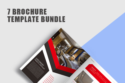 Red Professional Brochure Template Bundle
