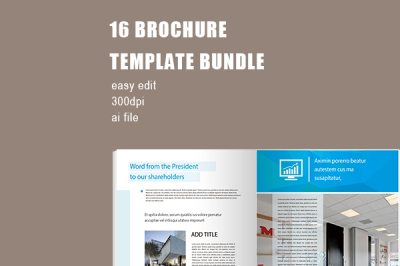 Blue Modern Company Brochure Template Bundle