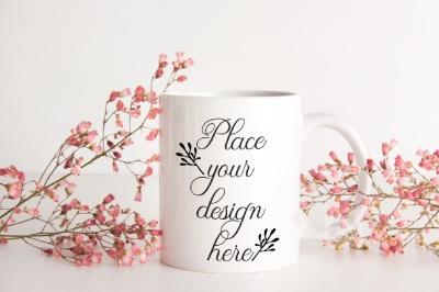 Coffee mug mockup white cup mock up psd smart 11oz feminine mockups