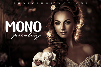 Mono Painting Photoshop Action