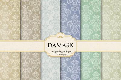 Vintage Damask Digital Paper