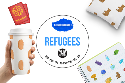 Refugees illustrations and graphics