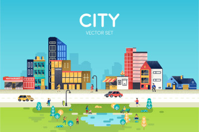 Vector City Set