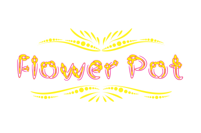 Flower Pot Typeface- handmade floral font