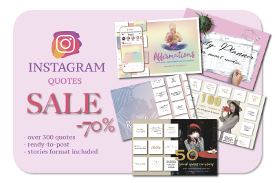 SALE! Instagram quotes. Social media