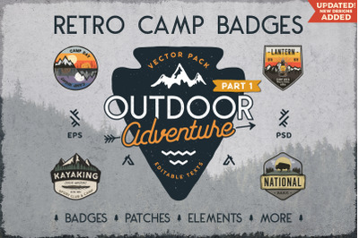 Retro Camp Badges / Outdoor Stickers. Part 1
