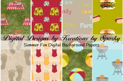 Summer Fun II Digital Background Papers