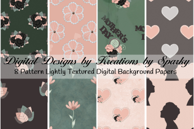 Mothers Day Digital Background Papers