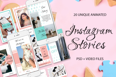 20 ANIMATED Instagram Stories- 40%OFF