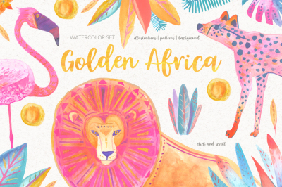 Golden Africa Watercolor Set