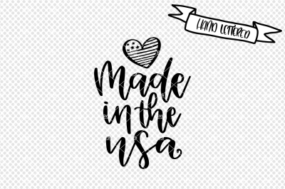 Made in the USA svg cut file, Fourth of July svg