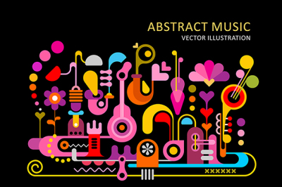 Abstract Music Vector Backgrounds