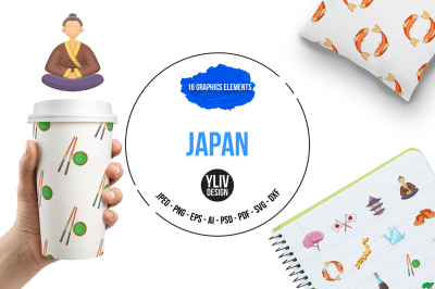 Japan illustrations and graphics
