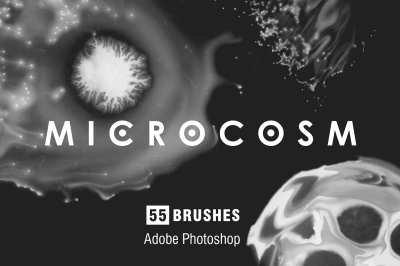 MICROCOSM - 55 Photoshop brushes