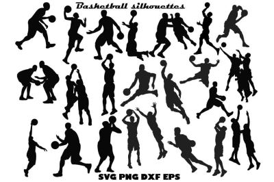 Basketball Silhouette SVG DXF PNF EPS