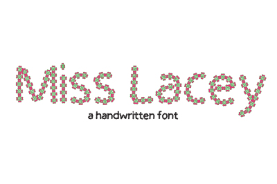 Miss Lacey - Handmade Checkered floral font