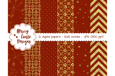 Rust & Gold Digital Papers