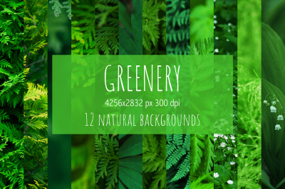 Set of natural backgrounds