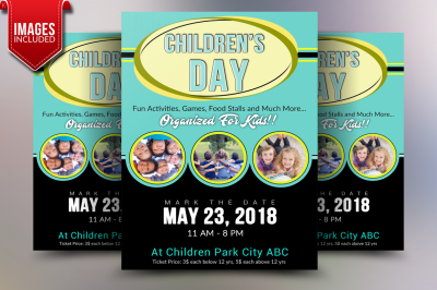 Children's Day Flyer Template