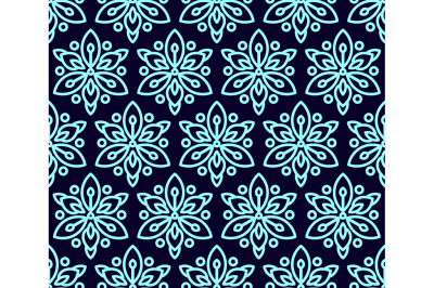 Seamless pattern with clematis.