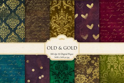 Vintage and Gold Textures
