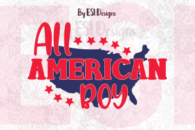 All American Boy Design | SVG, DXF, EPS & PNG