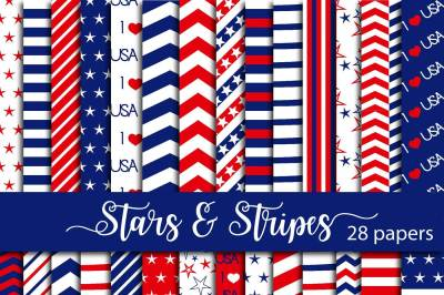 Stars and Stripes Digital Paper