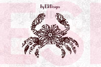 Crab Mandala Design | SVG, DXF, EPS & PNG